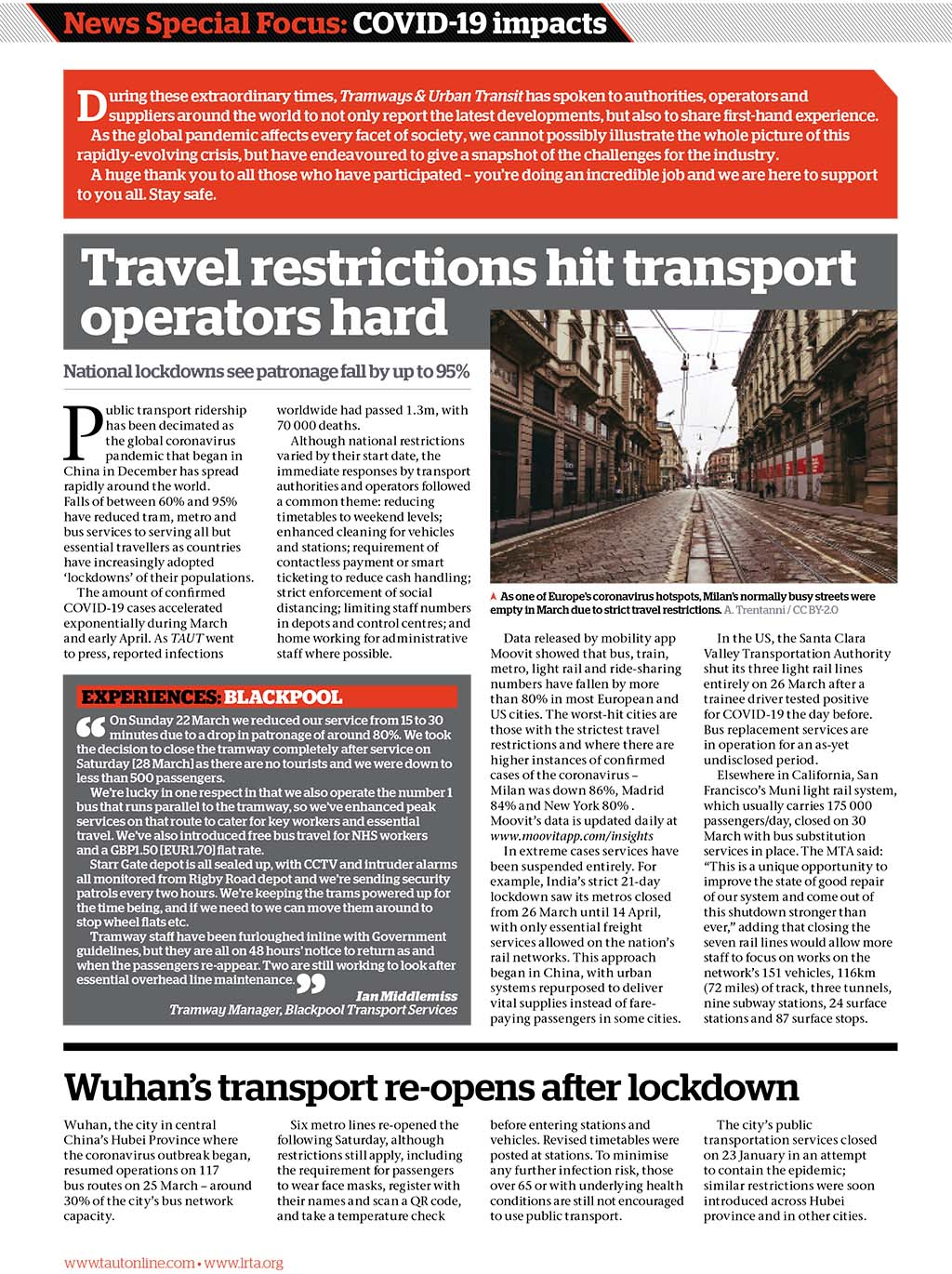 Tramways and Urban Transit May 2020 News Special