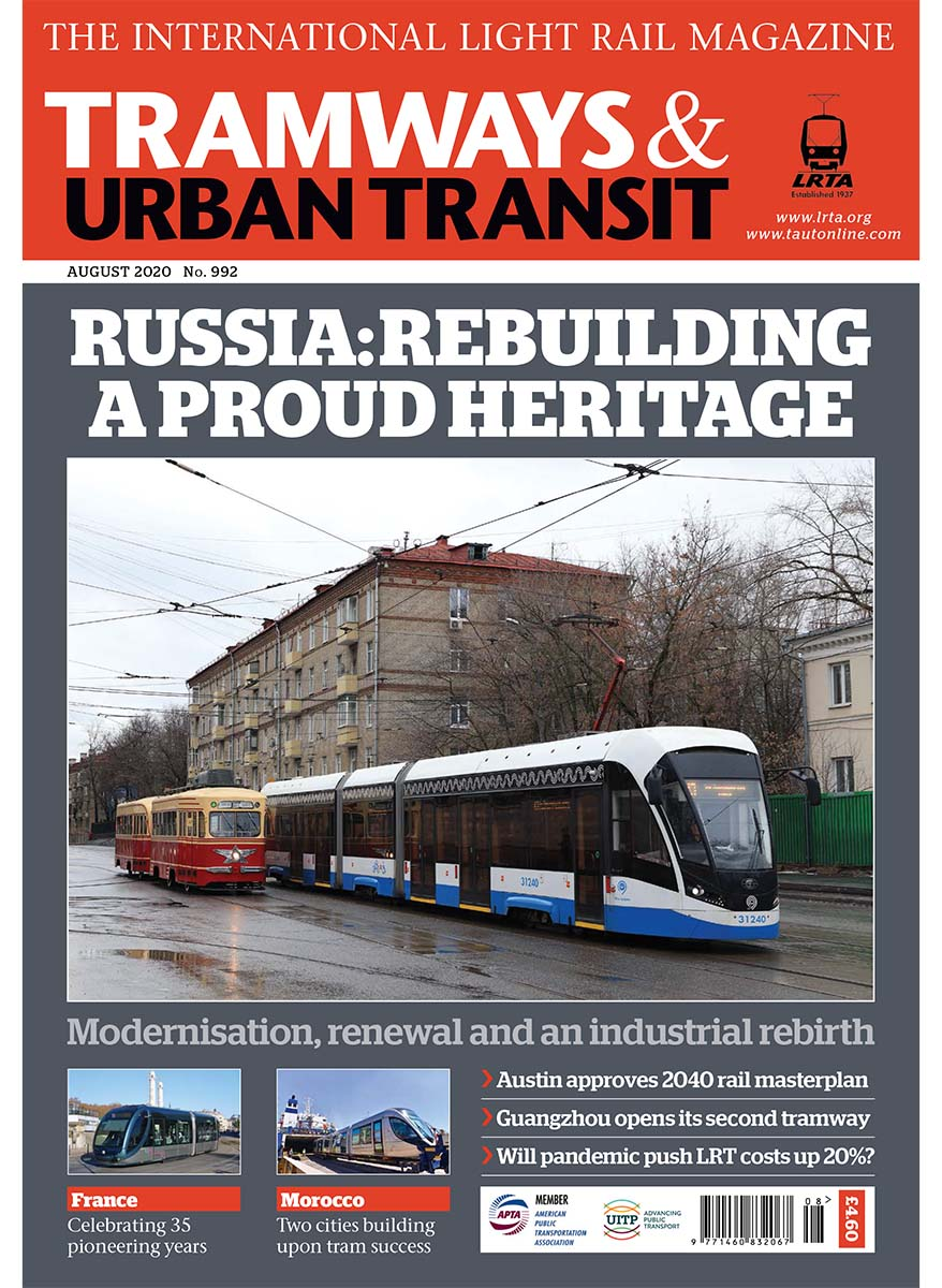 Tramways and Urban Transit August 2020