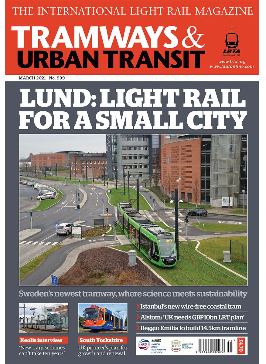 Tramways and Urban Transit March 2021