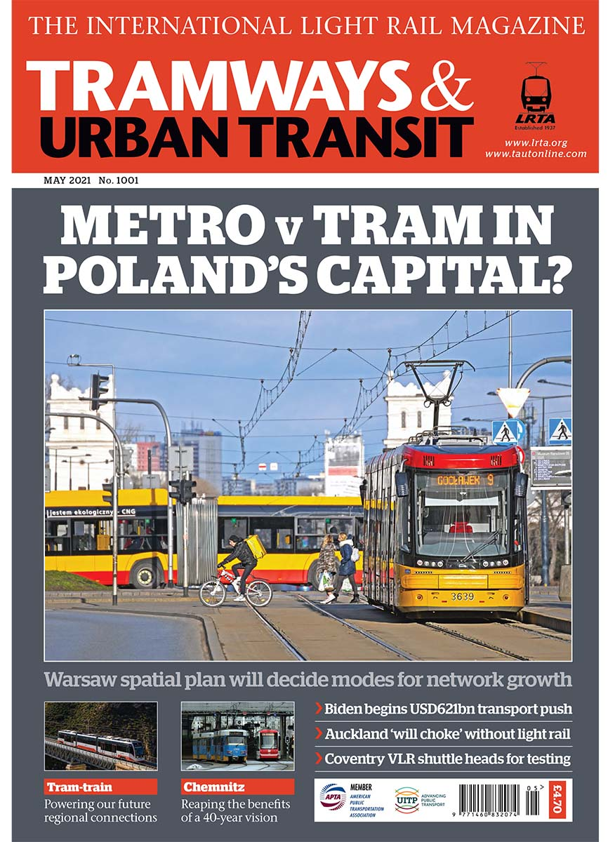 Tramways and Urban Transit May 2021
