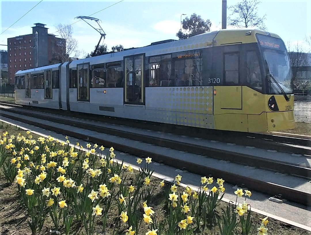 Trafford Centre trams arrive 7 months early